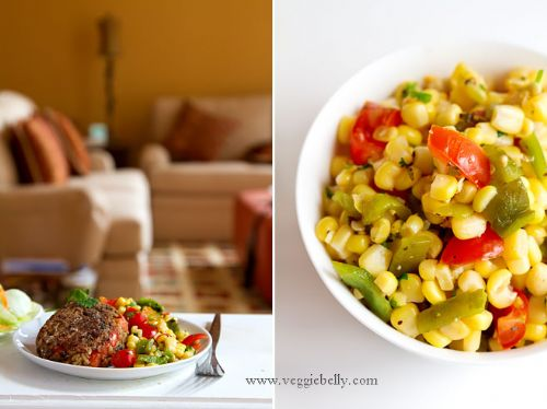 Roasted Poblano and Sweet Corn Salsa