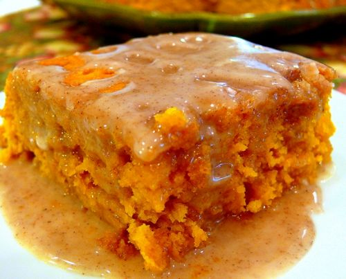 Pumpkin Cake w/ Apple Cider Glaze