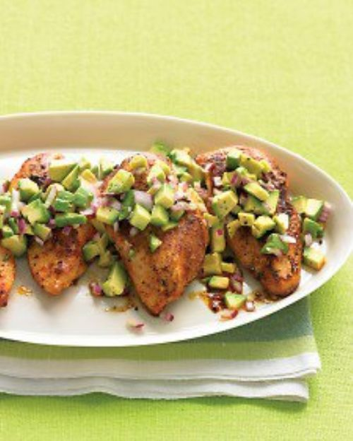 Cayenne Rubbed Chicken With Avocado Salsa
