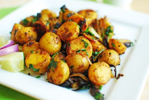 Spicy Roasted Baby Potatoes