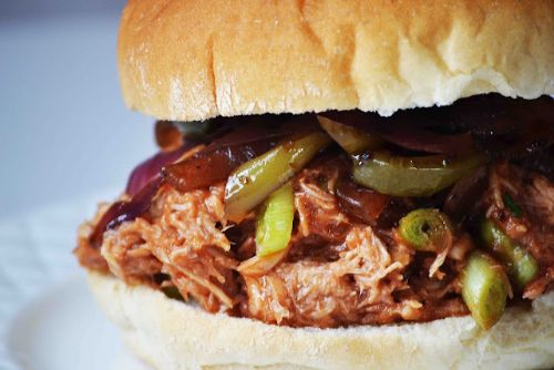 Crockpot Woodchuck Hard Cider Pulled BBQ Chicken