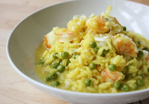 Shrimp & Pea Risotto