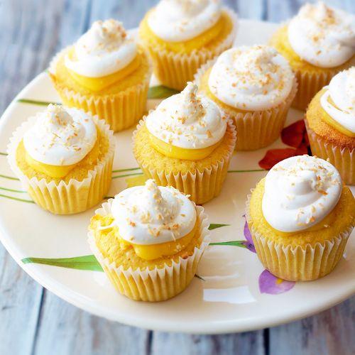 Lemon Filled Coconut Cupcakes Recipe