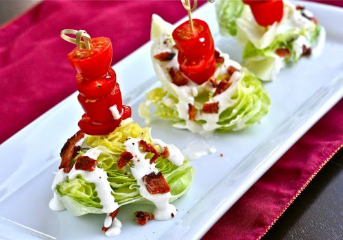 Mini Iceberg Lettuce Wedge Salads with Blue Cheese