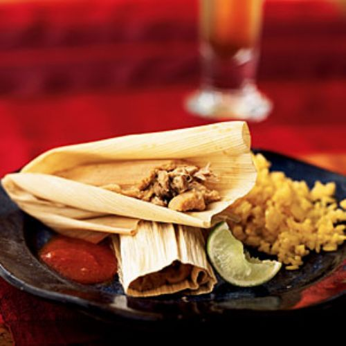 Pork & Ancho Chile Tamales With Mexican Red Sauce
