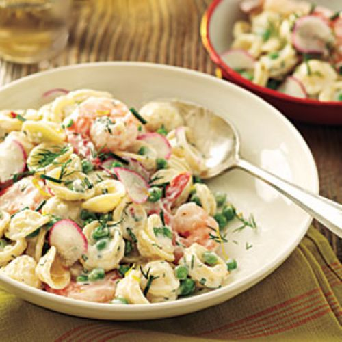 Orecchiette with Peas, Shrimp, and Buttermilk-Herb