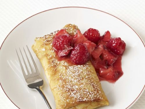 Plum-Raspberry Blintzes