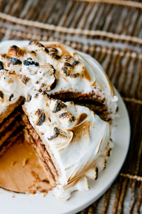 Inside-Out S'mores Cake
