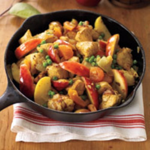 Curried Chicken with Apples and Pears