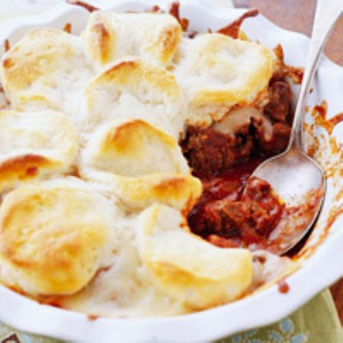 Beef - Upside-Down Pizza Casserole