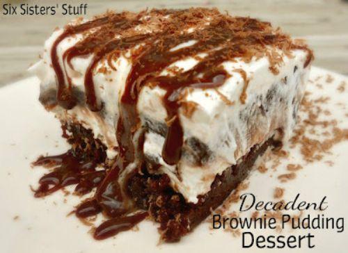 Decadent Brownie Pudding Dessert Recipe