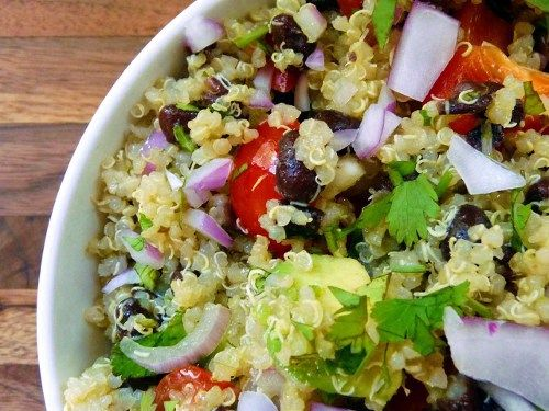 Quinoa Salad & Cumin-Lime Dressing