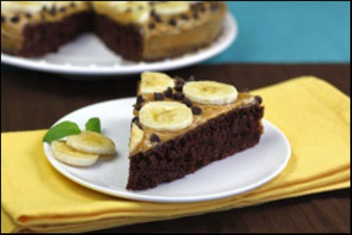 Chocolate Peanut Butter Banana Cake