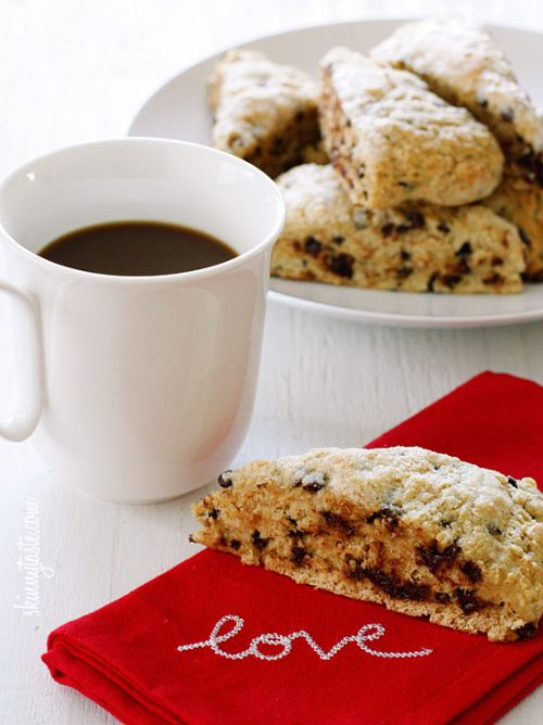Skinny Chocolate Buttermilk Scones