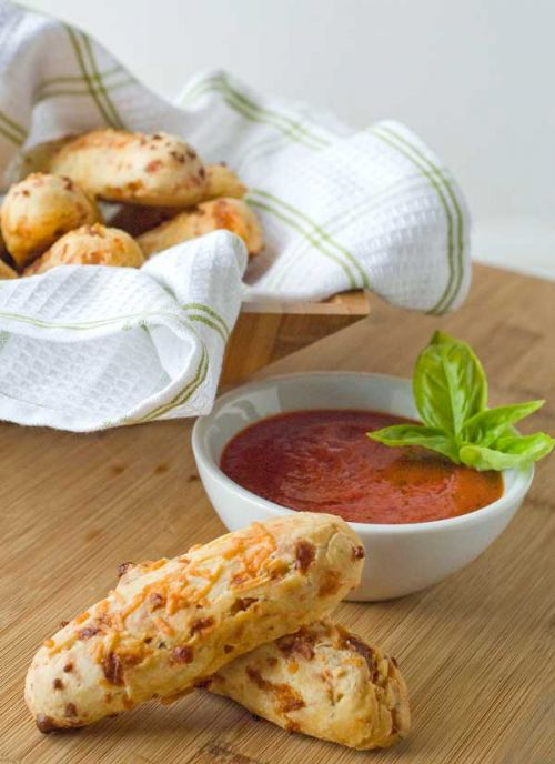 Pizza Breadsticks with Dipping Sauce