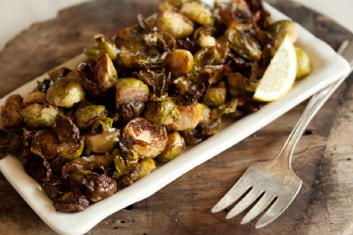 Crispy Lemon Roasted Brussel Sprouts