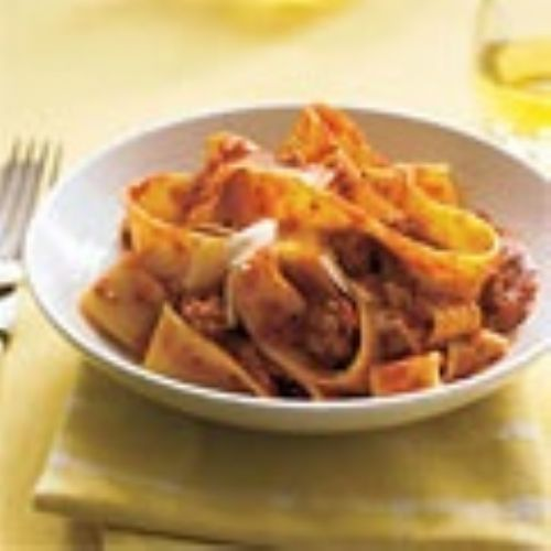 Pappardelle With Turkey Ragu