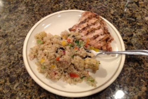 Quinoa Salad and Grilled Chicken