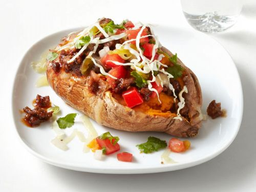 Potatoes - Chili-Stuffed Sweet Potatoes