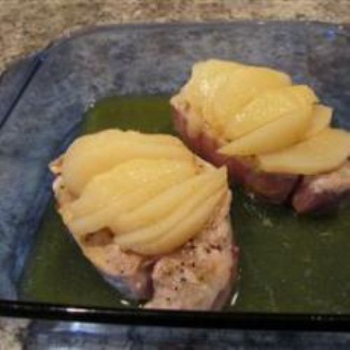 Pork Chops and Pears