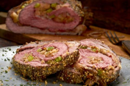Tuscan Herb Parmesan-Stuffed Flank Steak