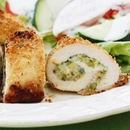 Sun Dried Tomato & Basil Stuffed Chicken Rollitini