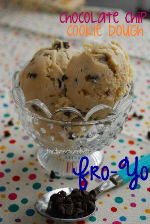 Chocolate Chip Cookie Dough Fro-Yo