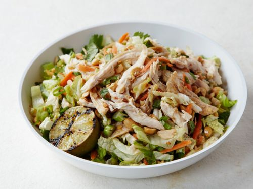 Chinese Chicken Salad with Chile Peanut Dressing