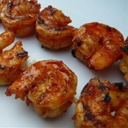 Shrimp marinated and grilled