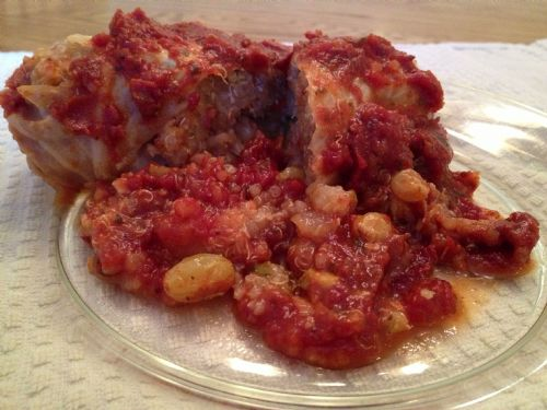 Quinoa Stuffed Cabbage