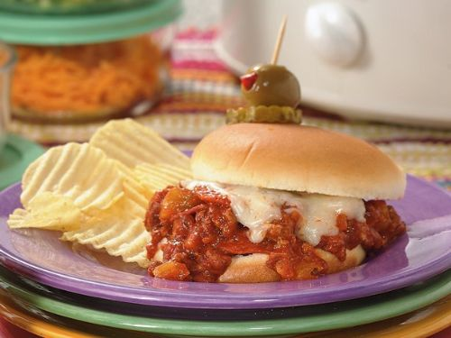 Slow Cooker Pizza Joes