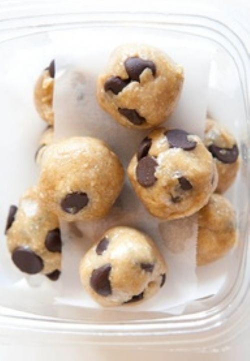 Healthy No Bake Chocolate Chip Cookie Dough Bites