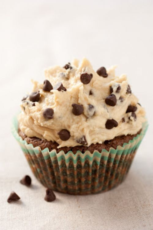 Brownie Cupcake with Cookie Dough Frosting