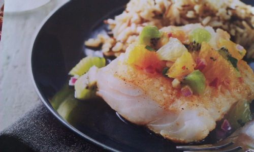 Cod with Citrus Salsa