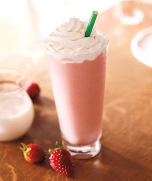 strawberry and creme frappuncino