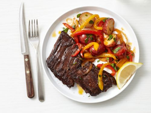 Steak - Skirt Steak with Peppers