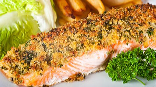 Herb-Crusted Salmon