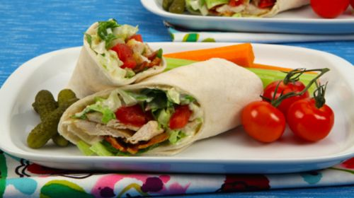 Tofu-Chicken Wrap