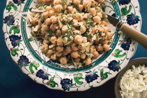 Chickpea Salad with Lemon, Parmesan, and Herbs