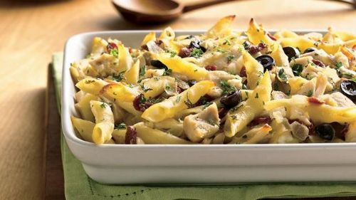 Greek and Chicken Pasta