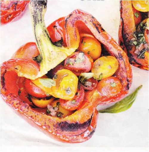 Grilled Peppers Piedmontese