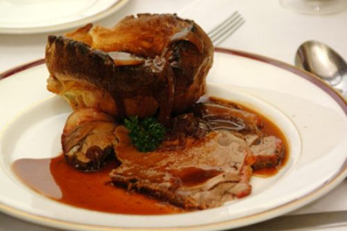 Traditional roast beef, with yorkshire pudding,
