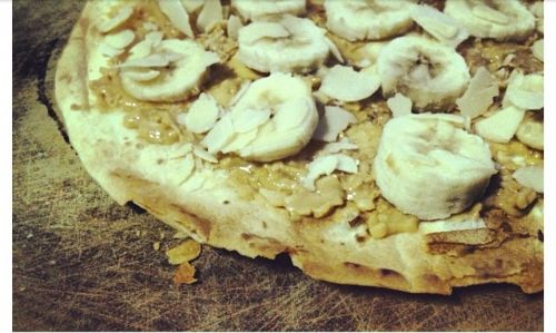 Banana & Peanut Butter Pizza