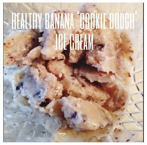 Healthy Banana Cookie Dough Icecream