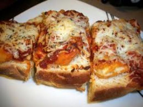 Chicken Finger French Bread Pizza