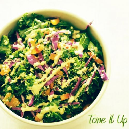 Confetti Kale Salad w/ Dijon Dressing Recipe