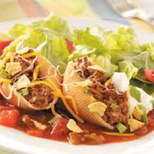 Taco- filled Pasta Shell
