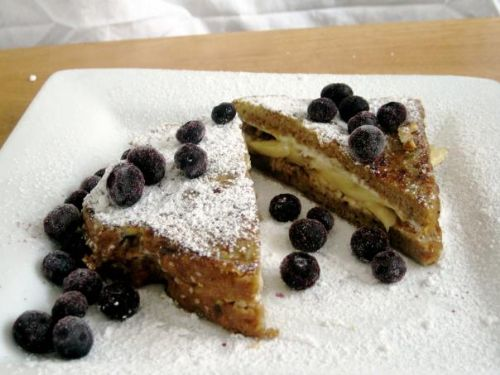 Banana and Cream Cheese Stuffed French Toast