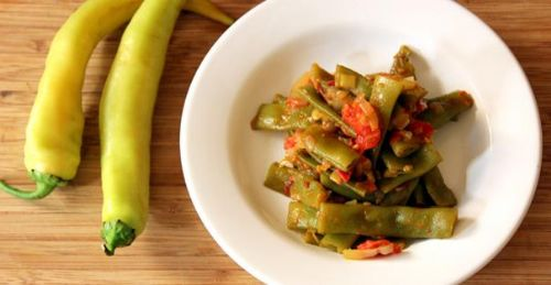Sauteed Green Beans and Tomatoes