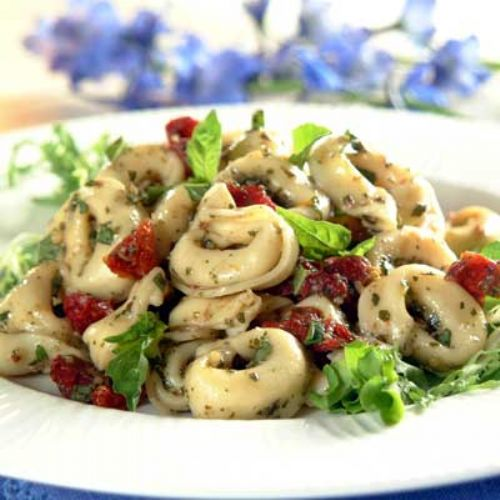 Pasta - Tortellini w/ Pesto and Sun-Dried Tomatoes